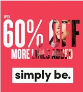 Curvy / Plus Size? Simply Be - Autumn Sale is on - up to 60% Off