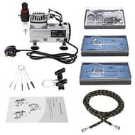 Airbrush Air Compressor Kit,3+Braided Air Hose