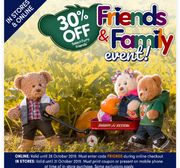 30% off Selected Furry Friends at Build-A-Bear UK