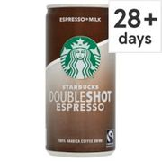 Free Starbucks Double Shot Coffee 200ml