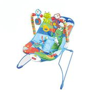 Baby Soothing Vibration Musical Bouncer with Toys by Babyhugs - Cute Blue Frog