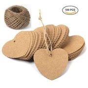 Heart Shaped Kraft Paper Cards Gift Favor Tags Price Tags for Wedding Christmas
