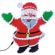 50% OFF!!! 75cm Santa Silhouette Multi Coloured Rope Light with Stand