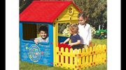 City Play House with Fence