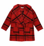 GIRLS COAT WOOL CHECKED MARKS & SPENCER On Sale From £35 to £4.99