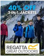 40% off Regattta 3-in-1 JACKETS