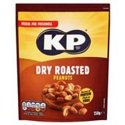KP Dry Roasted Peanuts Reclose Pack 250g £2 Each or 3 for £5