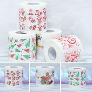 Cheap Christmas Santa Print Bath Toilet Roll Paper at Ebay, Only £1.5!