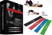 "Great Deal """" Fitness Exercise Bands Set of 4 Best Latex Free """