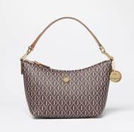 J by Jasper Conran - Chocolate Faux Leather Monogram 'Forest Hill' Shoulder Bag