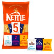Cheap Kettle Variety Crisps 5 Pack 5 Pack X 30G at Tesco, Only £1!