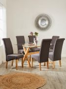 *SAVE £190* Venla 150 Cm Dining Table and 6 Chatham Chairs