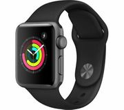 Cheap APPLE Watch Series 3 - Space Grey & Black Sports Band - Save £80!