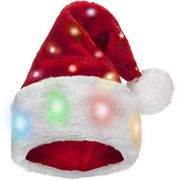 Winks Novelty Funny Light up Santa Hat for Adults [1 Pack] with 20 Blinking