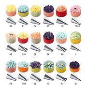 KitchenPRO Stainless Steel Icing Tips Cake Decorating Pastry Tips (56 Pieces)