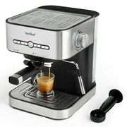 VonShef 15 Bar Coffee Maker Machine Espresso Latte Cappuccino Stainless Steel