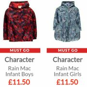 CHARACTER Rain Mac £11.50 (Boys Spiderman + Girls Frozen)