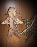 """9"""" Wooden Hand Decorated Angels or Stars"""