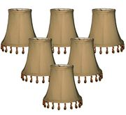 6 Pack of Gold Antique Look Lampshades (Add-On)
