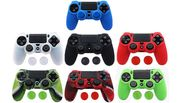 1 or 2 Anti-Slip Silicone PS4 Controller Skin Cases - 8 Colours