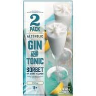 Gin & Tonic Sorbet Flutes 2pk