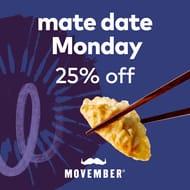 Mate Date Mondays 25% Off