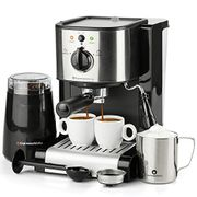 7 Pc All-in-One Espresso & Cappuccino Maker Machine