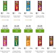 Pringles Crisps 200g 10 Varieties £1.25 Each at Asda