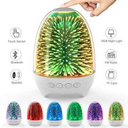 Aiscool Night Light Bluetooth Speaker Bedside Lamp Touch Control Multi Colored