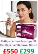 Philips Lumea PRESTIGE IPL Cordless for Body, Face, Bikini