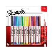 Sharpie Permanent Markers, Ultra Fine Tip, Assorted Fun Colours, Pack of 12