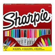 Sharpie Permanent Markers Combo Pack, Fine, Ultra Fine & Chisel Tips, 20 Count