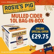 Rosies Pig Cloudy Mulled Cider (1 X 10l)