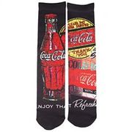 Mens Coca Cola Cracked Image Socks Size 6-11 - 1 Pair