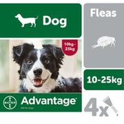 Advantage 250 Flea Treatment for Dogs 4 Pipettes 25% Off