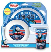 Thomas the Tank Engine Tumbler, Bowl, Plate Set, 3 Piece, Blue