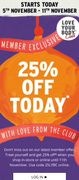 Bodyshop Treat Yourself and Get 25% Off* When You Shop In-Store or Online