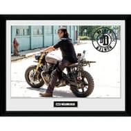 The Walking Dead Daryl Bike Framed Photograph 12 X 16 Inch