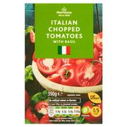 Morrisons Italian Chopped Tomatoes with Basil 390g