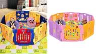Large 8 Panel Foldable Kids Playpen - 2 Colours