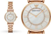 Ladies' Armani Gold T-Bar & Mother of Pearl Dial Watch