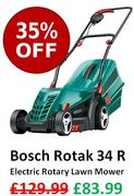 SAVE £46 at AMAZON! Bosch Rotak 34 R Electric Rotary Lawn Mower