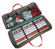 Best Price! Christmas Gift Wrap Fabric Storage Bag for Paper, Tags & Bows