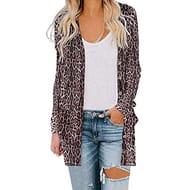 Ni_ka Coats Women plus Size Warm Winter Top Sweatshirt Ladies Leopard