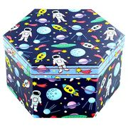4 Tier Hexagon Art Box - 52 Piece - Space or Unicorn £3.75 with Code the Works