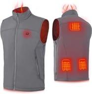 Keymao Heated Vest 3 Heating Modes Adjustable Electric Body Warmer 4 Sizes