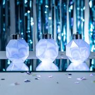 White LED Iridescent Christmas Bauble Trio