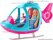 Barbie Helicopter, Pink and Blue, with Spinning Rotor, Multicolored at Amazon