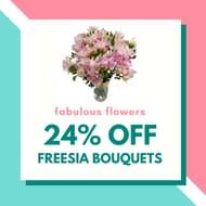 24% off Freesia Bouquets