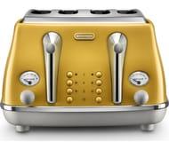 DELONGHI Icona Capitals CTOC4003.Y 4-Slice Toaster